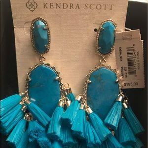 Kendra Scott Turquoise dangle earrings